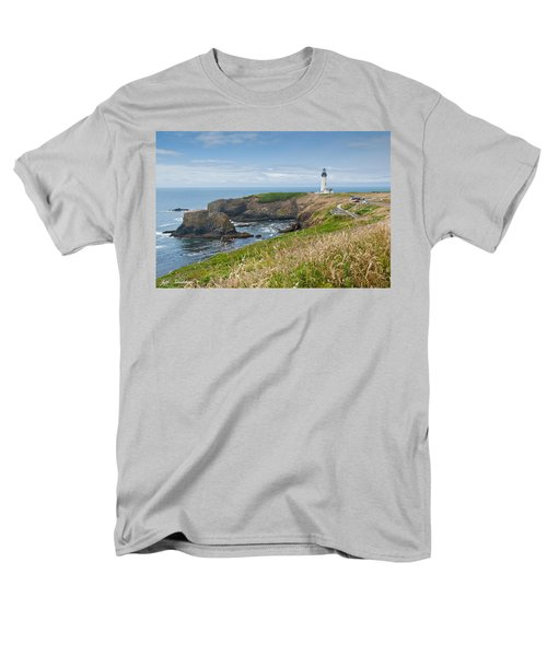 Men's T-Shirt  (Regular Fit) featuring the photograph Yaquina Head Lighthouse by Jeff Goulden