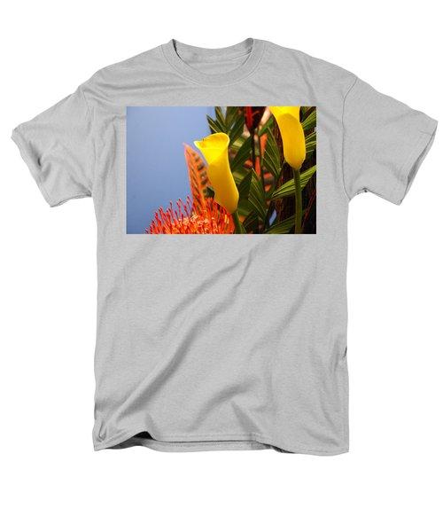 Men's T-Shirt  (Regular Fit) featuring the photograph Yellow Calla Lilies by Jennifer Ancker
