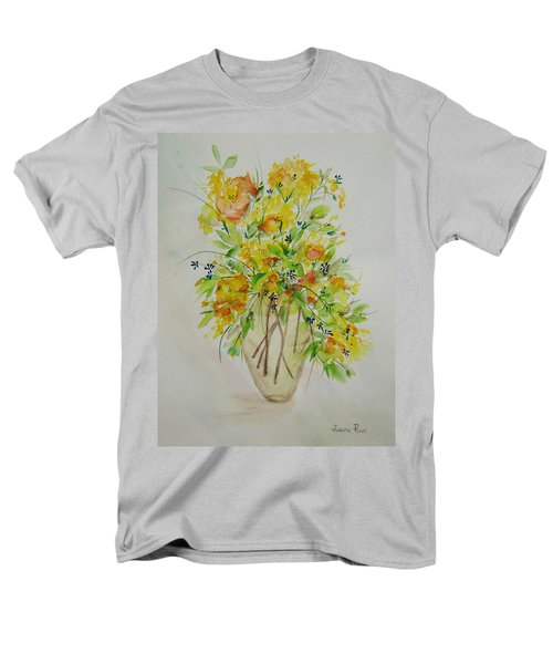 Yellow Flowers Men's T-Shirt  (Regular Fit) by Judith Rhue