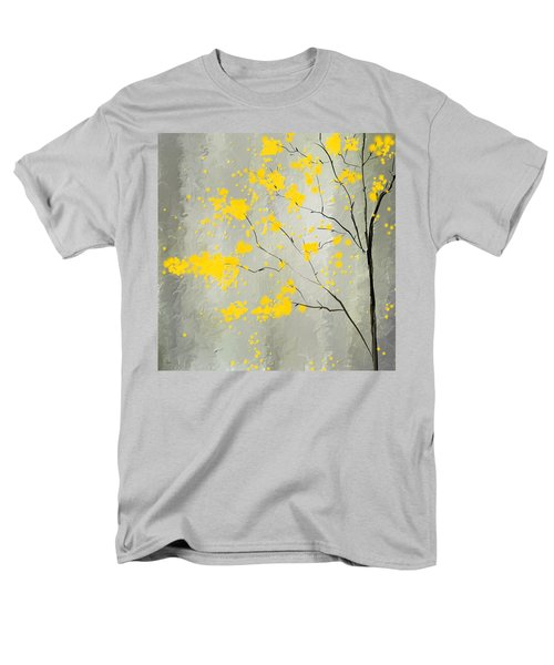 Yellow Foliage Impressionist Men's T-Shirt  (Regular Fit) by Lourry Legarde