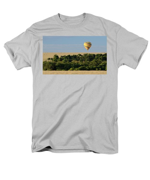 Men's T-Shirt  (Regular Fit) featuring the photograph Yellow Hot Air Balloon Masai Mara by Tom Wurl