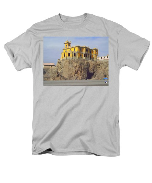 Men's T-Shirt  (Regular Fit) featuring the photograph Yellow On The Rocks by Lew Davis