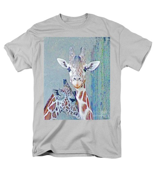 Young Giraffes Men's T-Shirt  (Regular Fit) by Lizi Beard-Ward