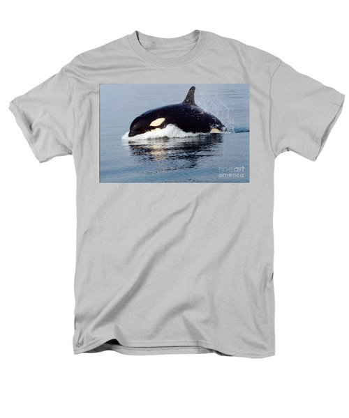 Men's T-Shirt  (Regular Fit) featuring the photograph Young Orca Off The San Juan Islands Washington 1986 by California Views Mr Pat Hathaway Archives