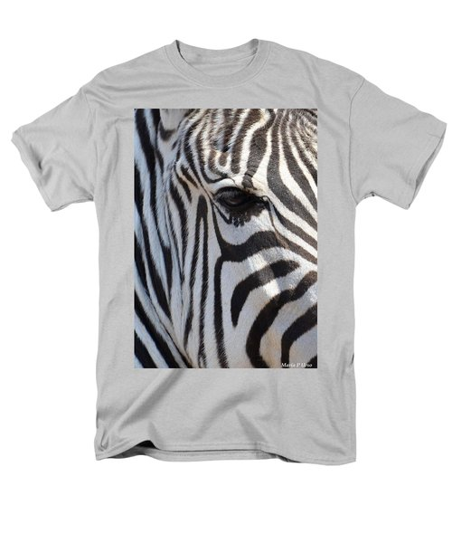 Zebra Eye Abstract Men's T-Shirt  (Regular Fit) by Maria Urso
