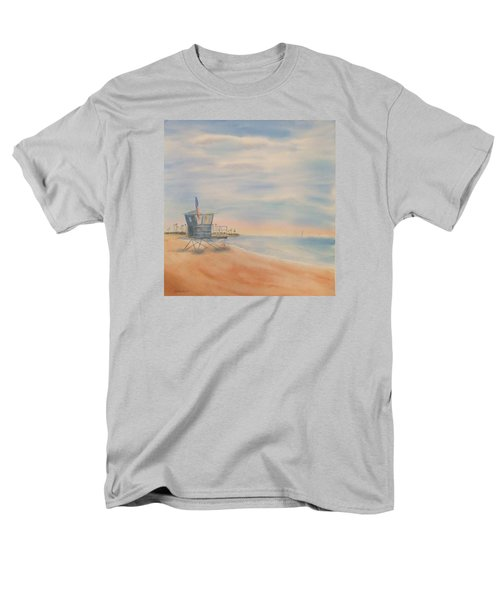 Morning By The Beach Men's T-Shirt  (Regular Fit) by Debbie Lewis