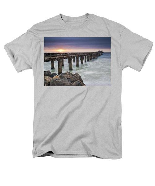 Pier At Sunset Men's T-Shirt  (Regular Fit) by Fran Gallogly