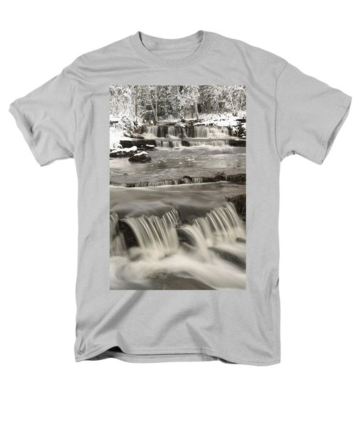 Waterfalls With Fresh Snow Thunder Bay Men's T-Shirt  (Regular Fit) by Susan Dykstra