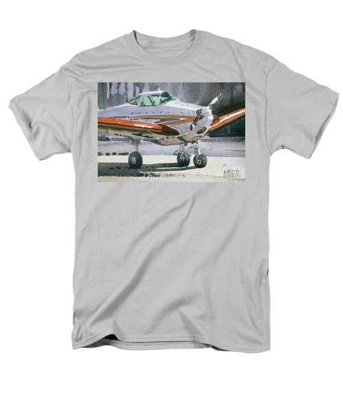 Men's T-Shirt  (Regular Fit) featuring the painting Private Plane by Donald Maier