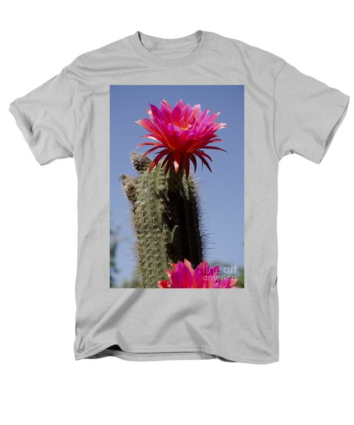 Pink Cactus Flower Men's T-Shirt  (Regular Fit) by Jim And Emily Bush