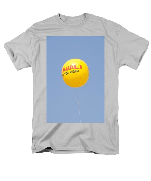 Men's T-Shirt  (Regular Fit) featuring the photograph A Hot Air Balloon In The Blue Sky by Ashish Agarwal