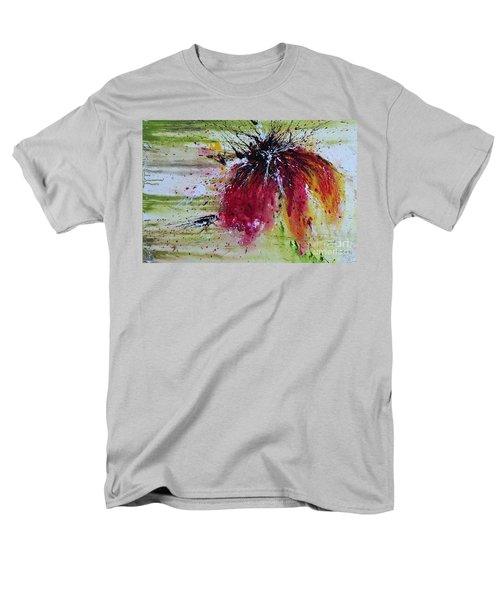 Men's T-Shirt  (Regular Fit) featuring the painting Abstract  Flower by Ismeta Gruenwald