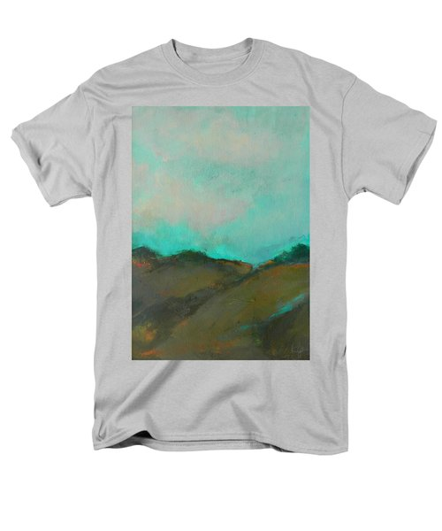 Abstract Landscape - Turquoise Sky Men's T-Shirt  (Regular Fit) by Kathleen Grace