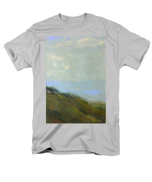 Abstract Landscape - Green Hillside Men's T-Shirt  (Regular Fit) by Kathleen Grace