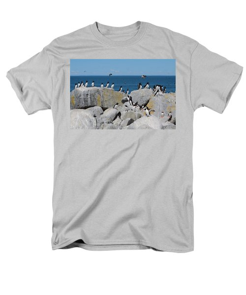 Auk Island Men's T-Shirt  (Regular Fit) by Bruce J Robinson