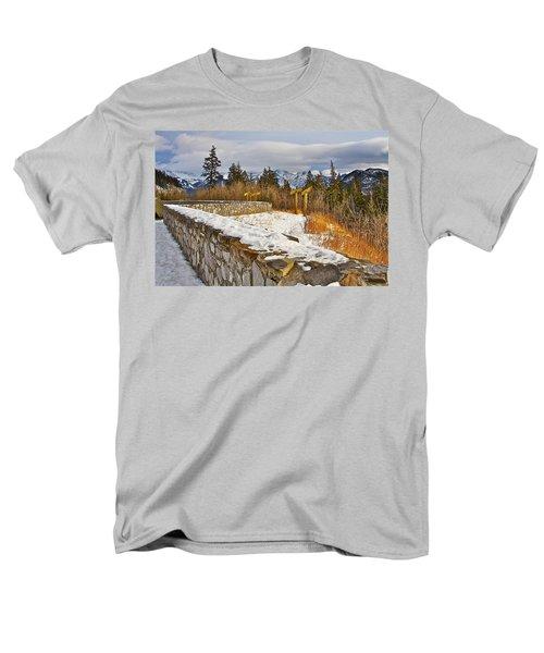 Men's T-Shirt  (Regular Fit) featuring the photograph Banff Scene by Johanna Bruwer