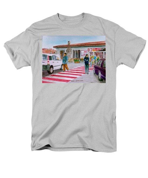 Bar Ristorante Mt. Etna Sicily Men's T-Shirt  (Regular Fit) by Frank Hunter