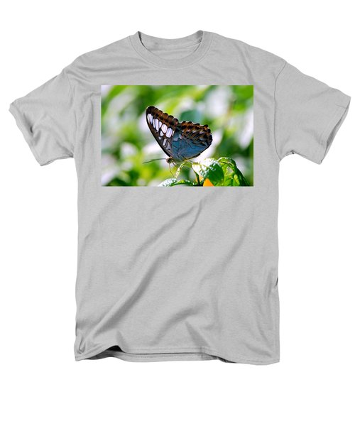Men's T-Shirt  (Regular Fit) featuring the photograph Bright Blue Butterfly by Peggy Franz