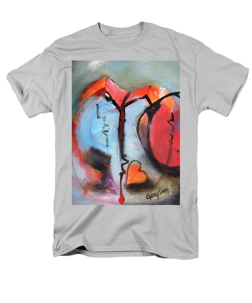 Broken And Blue Heart Men's T-Shirt  (Regular Fit) by Gary Smith