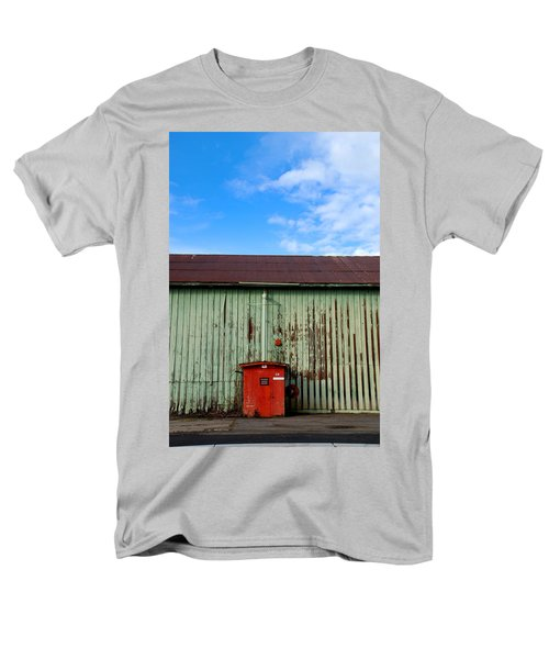 Men's T-Shirt  (Regular Fit) featuring the photograph Building Series - Red Shack by Kathleen Grace