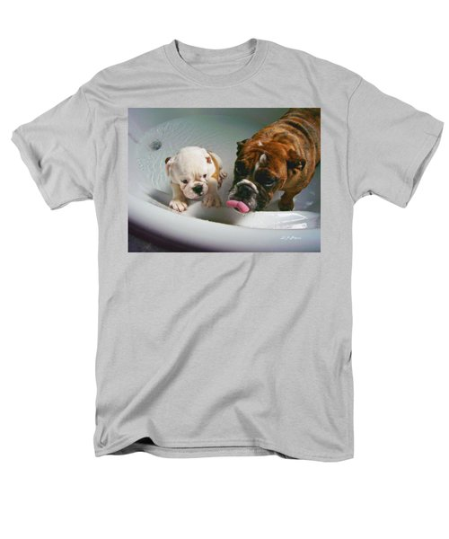 Men's T-Shirt  (Regular Fit) featuring the photograph Bulldog Bath Time II by Jeanette C Landstrom