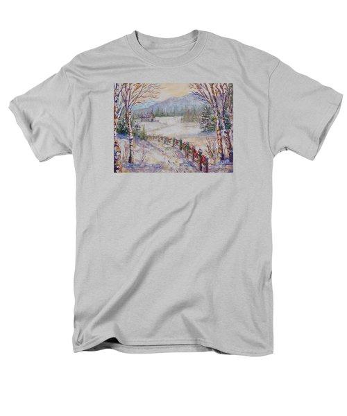 Christmas Men's T-Shirt  (Regular Fit) by Lou Ann Bagnall