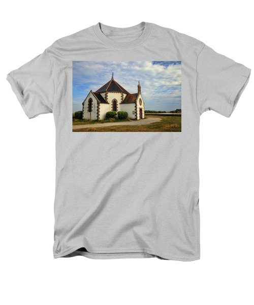 Men's T-Shirt  (Regular Fit) featuring the photograph Church Off The Brittany Coast by Dave Mills