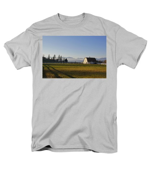 Men's T-Shirt  (Regular Fit) featuring the photograph Classic Barn In The Country by Mick Anderson