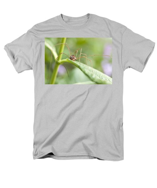 Men's T-Shirt  (Regular Fit) featuring the photograph Creepy Crawly Spider by Jeannette Hunt