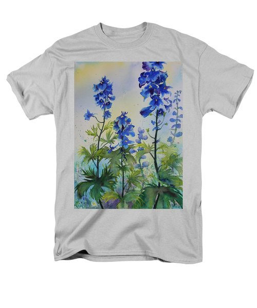 Delphiniums Men's T-Shirt  (Regular Fit) by Ruth Kamenev