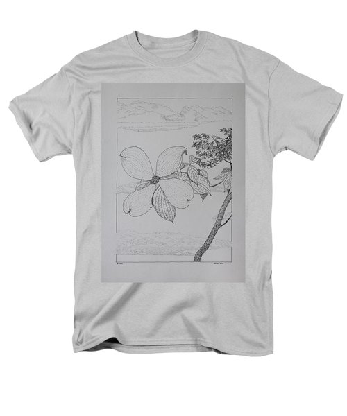 Men's T-Shirt  (Regular Fit) featuring the drawing Dogwood  by Daniel Reed