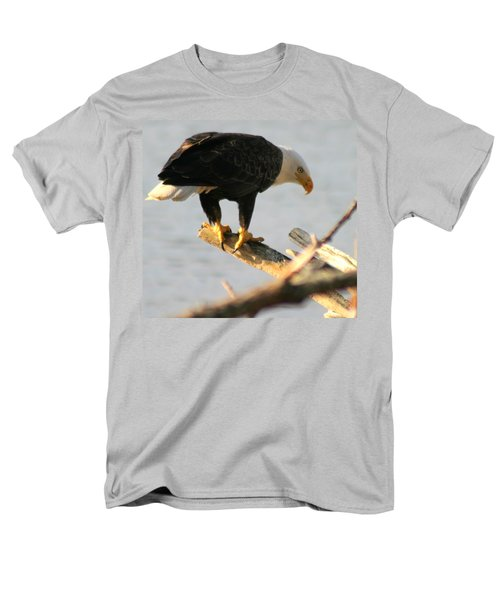 Men's T-Shirt  (Regular Fit) featuring the photograph Eagle On His Perch by Kym Backland
