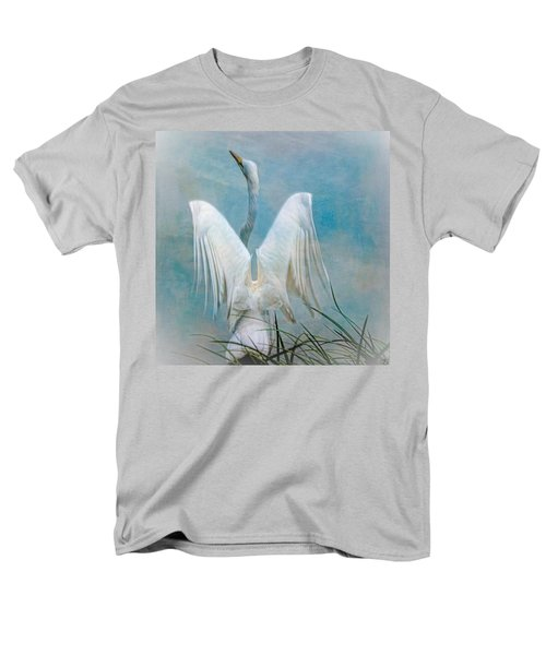 Egret Preparing To Launch Men's T-Shirt  (Regular Fit) by Chris Lord
