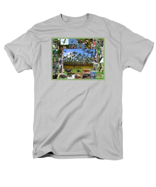 Men's T-Shirt  (Regular Fit) featuring the photograph Florida Wildlife Photo Collage by Barbara Bowen