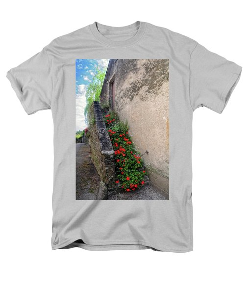 Men's T-Shirt  (Regular Fit) featuring the photograph Flower Stairway by Dave Mills