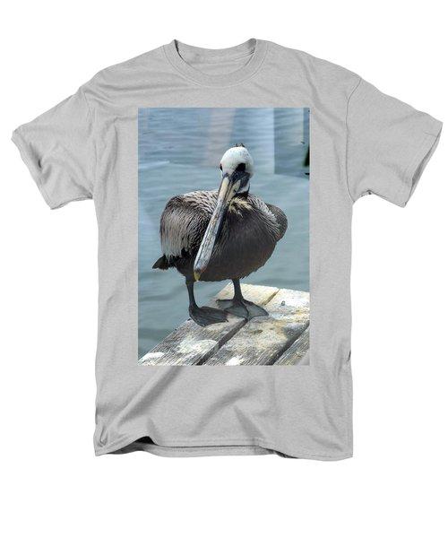 Men's T-Shirt  (Regular Fit) featuring the photograph Friendly Pelican by Carla Parris
