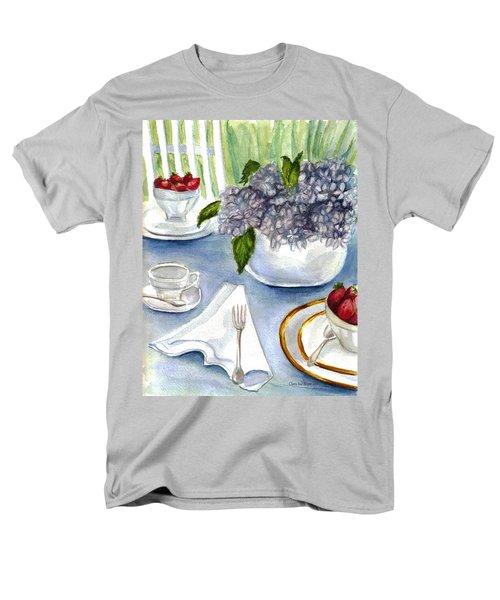 Men's T-Shirt  (Regular Fit) featuring the painting Garden Tea Party by Clara Sue Beym