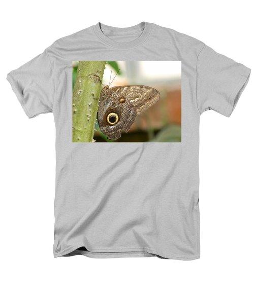Men's T-Shirt  (Regular Fit) featuring the photograph Giant Owl Butterfly by Lynn Bolt