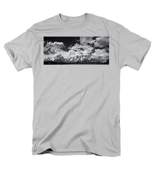 Grand Tetons Panorama In Monochrome Men's T-Shirt  (Regular Fit) by Ellen Heaverlo
