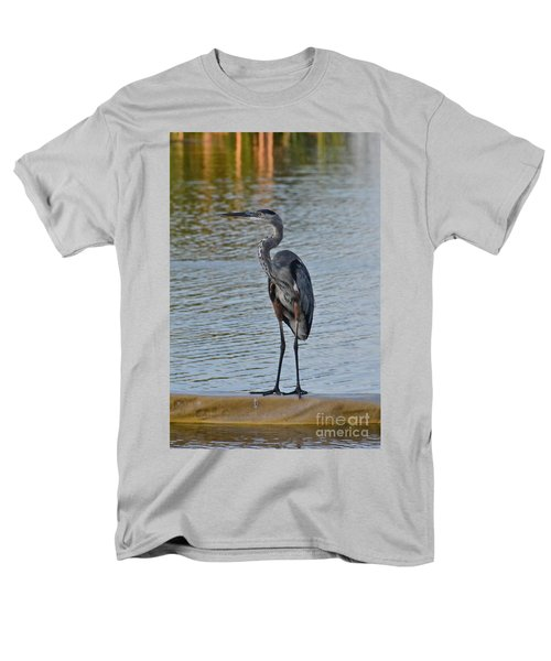 Men's T-Shirt  (Regular Fit) featuring the photograph Great Blue Heron by Carol  Bradley