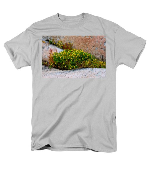 Men's T-Shirt  (Regular Fit) featuring the photograph Growing In The Cracks by Brent L Ander