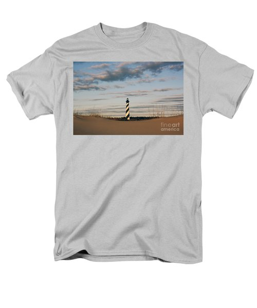 Hatteras Lighthouse And The Smiling Dune Men's T-Shirt  (Regular Fit) by Tony Cooper