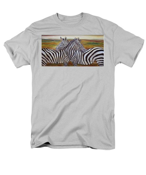 Men's T-Shirt  (Regular Fit) featuring the painting I Think Its This Way by Julie Brugh Riffey