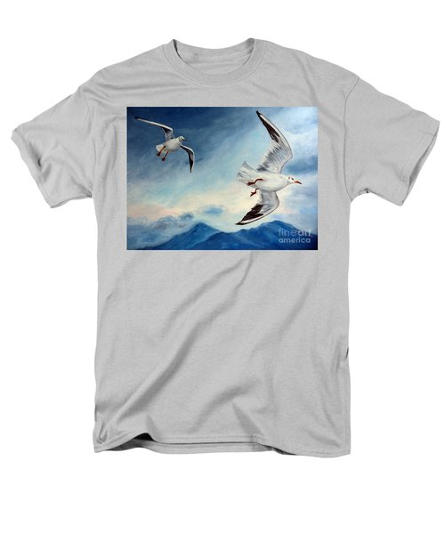 Men's T-Shirt  (Regular Fit) featuring the painting In Flight by Julie Brugh Riffey