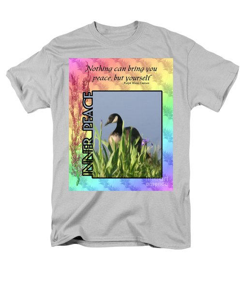 Men's T-Shirt  (Regular Fit) featuring the digital art Inner Peace by Smilin Eyes  Treasures