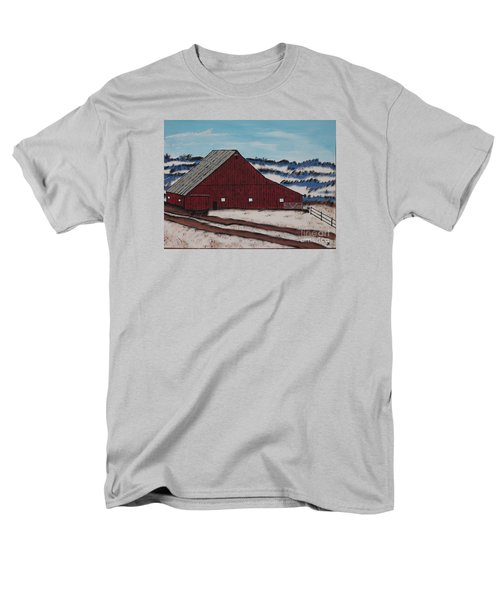 Men's T-Shirt  (Regular Fit) featuring the painting Keystone Farm by Jeffrey Koss