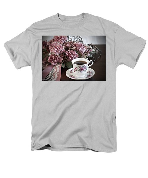 Men's T-Shirt  (Regular Fit) featuring the painting Ladies Tea Time by Sherry Hallemeier