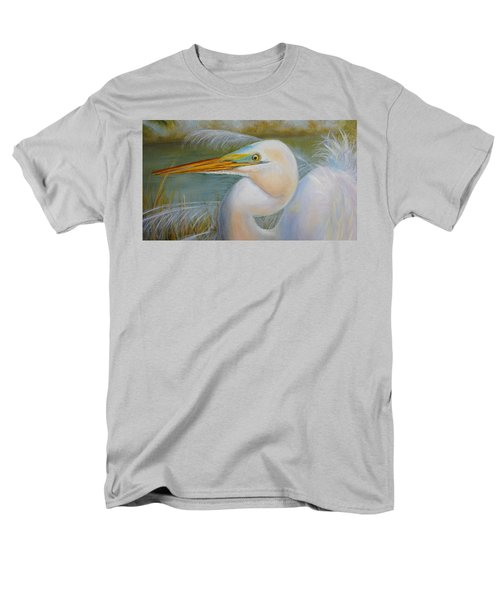 Men's T-Shirt  (Regular Fit) featuring the painting Marsh Master by Marlyn Boyd