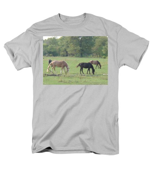 Men's T-Shirt  (Regular Fit) featuring the photograph Mowing The Lawn by Bonfire Photography