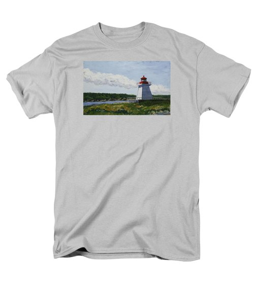 Neil's Harbor Light Men's T-Shirt  (Regular Fit) by Alan Mager